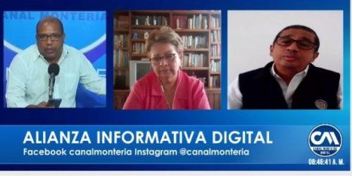 Entrevista en directo del CAU Montería, por el Medio televisivo Canal Montería
